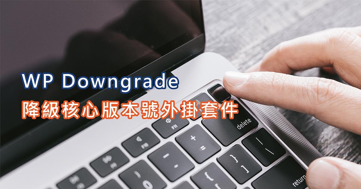 WP Downgrade 降級核心版本號外掛套件 20