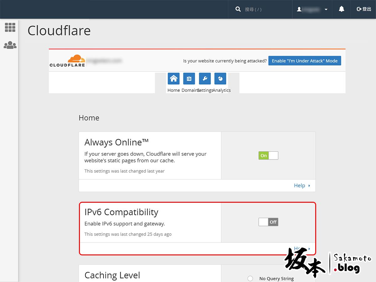 CloudFlare 如何關閉 IPv6 Compatibility 6