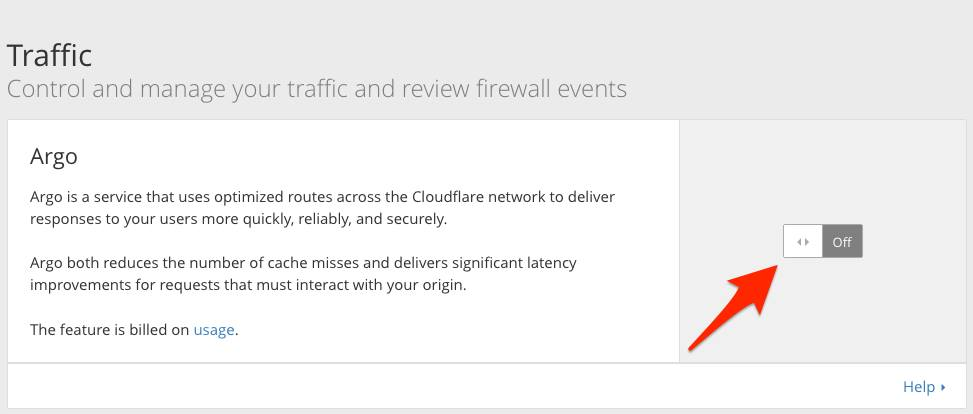 CloudFlare Argo Network 4
